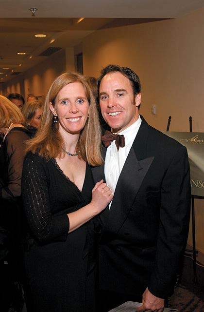 Millie and Gardner Flanigan at the 2006 Ski Ball. The ball is a fundraiser for the Steamboat Springs Winter Sports Club.
