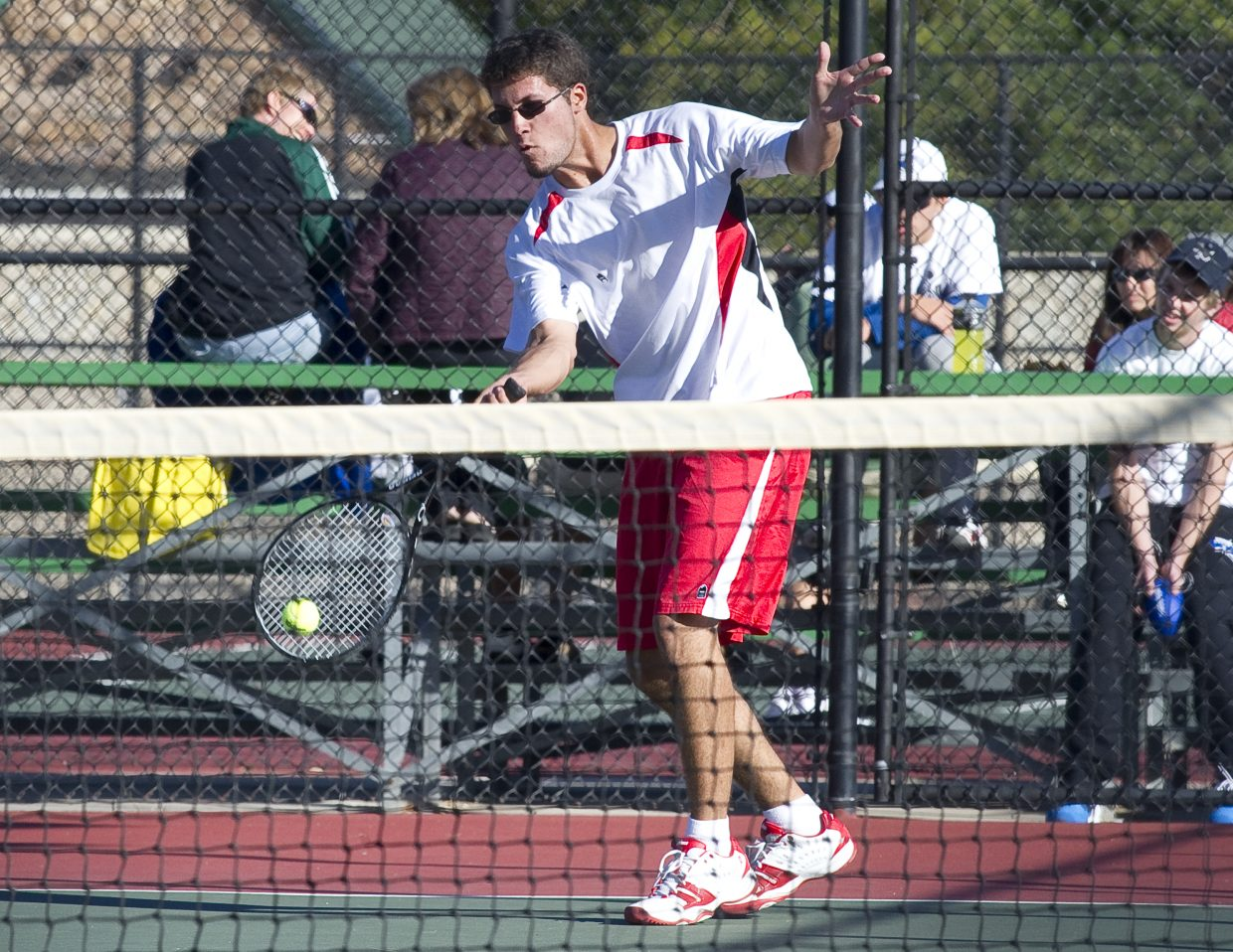 Steamboat's Mirko Erspamer lost to Broomfield's Zack Kusick, 6-1, 6-1, in the opening round of the state high school tennis tournament in Pueblo on Thursday.