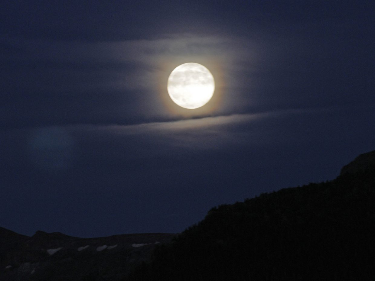 Full moon over the Flat Tops. Dunckley Pass. Submitted by: Jeff Hall