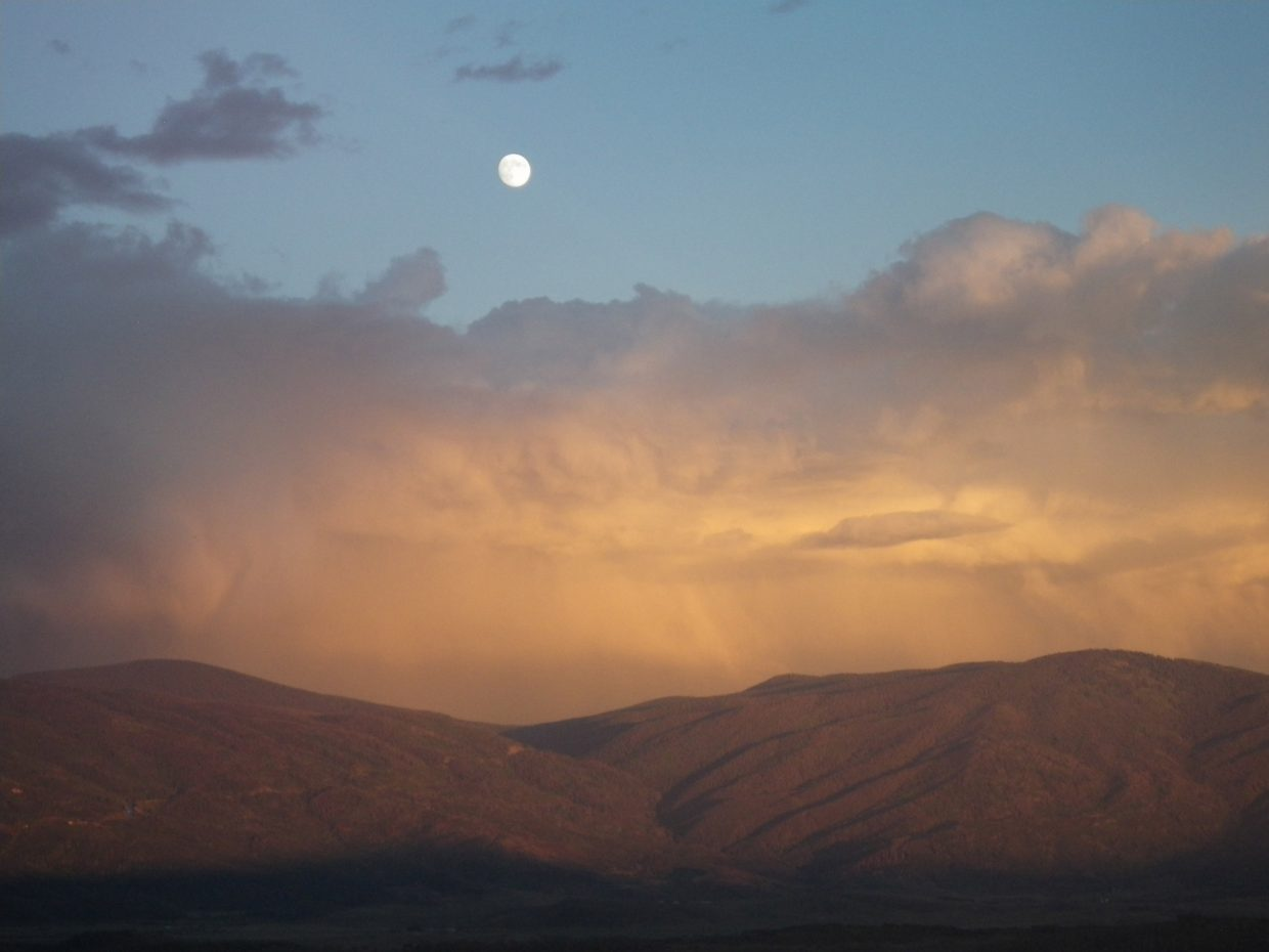 Moonrise in Steamboat. Submitted by: Lee Cox