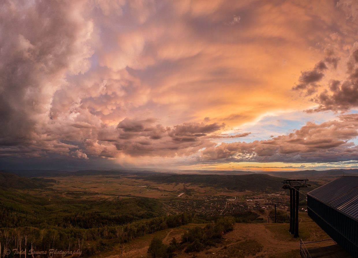 Sunset after a windy and rainy hike up the mountain. Submitted by: Todd Sowers