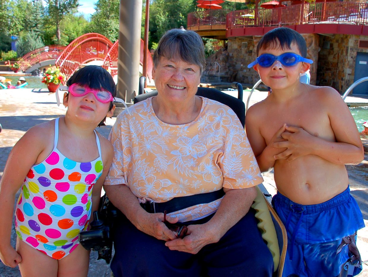 Nancy Stahoviak had a pleasant morning at the Old Town Hot Springs while her grandkids had a swim lesson. Submitted by: Shannon Lukens