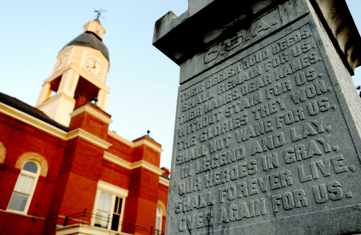 The courthouse in Lexington, Miss., commands the town square. It was the site of early black voter registration efforts in the 1960s. Today, the city swirls around it and a monument in the lawn dedicated to the county's 2,000 Confederate soldiers. Much of Holmes County's troubles with obesity and poverty are lingering effects of slavery, now gone nearly 150 years.