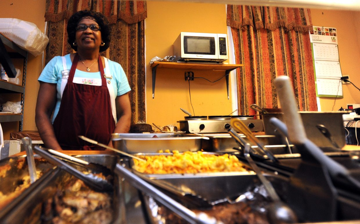 Ella Miller waits for customers in her Southern Barrel Restaurant in Lexington, Miss. Miller made an effort about nine years ago to break from regional tradition and cut out much of the fried food she offered and to eliminate the lard from her other dishes. That's turned off some customers, she said, but many others still show up regularly for her home-cooked meals.