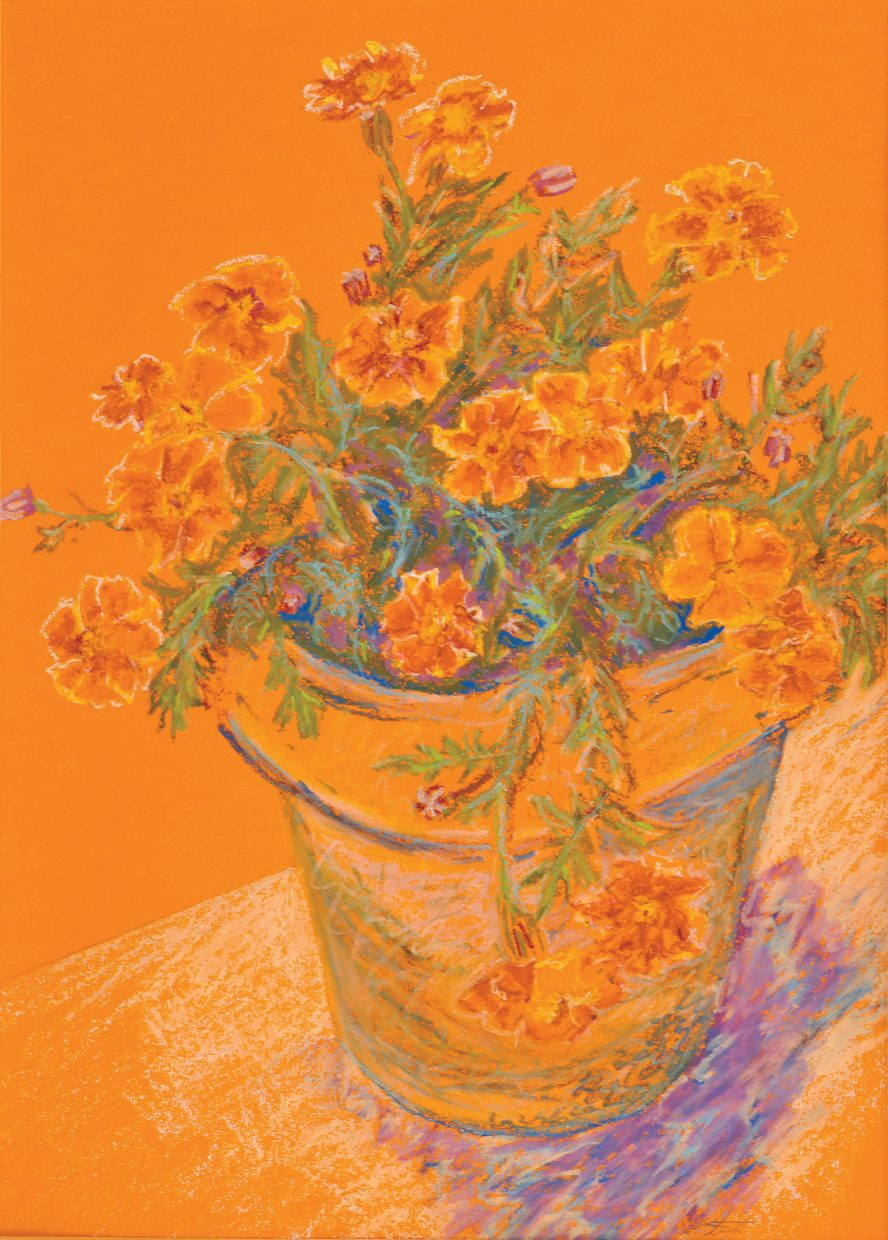 """""""Potted Flowers"""" by Patsy Stewart."""