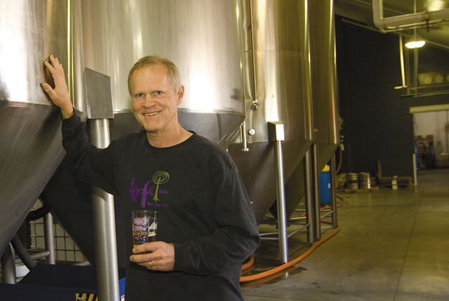 Odell Brewing Co. founder Doug Odell is satisfied with his product and the people who work for him. He allows employees and CSU students to test new recipes with the brewery's five-barrel pilot system.