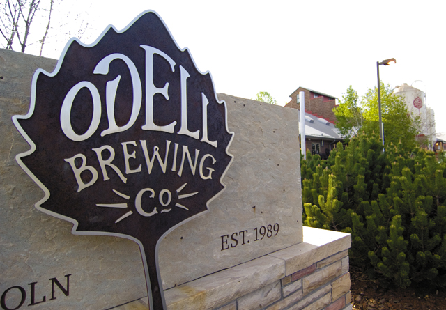The sign outside Odell Brewing Co. is backed by the pride of its employees, who produce a quality product that draws crowds to the tasting room.