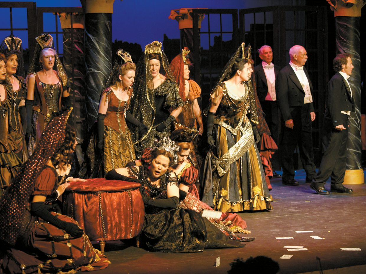 """Emerald City Opera brought together local musicians and international stars for its August 2008 production of """"La Traviata."""" The opera company was a finalist for the El Pomar Foundation's 2008 Awards for Excellence in the Arts."""