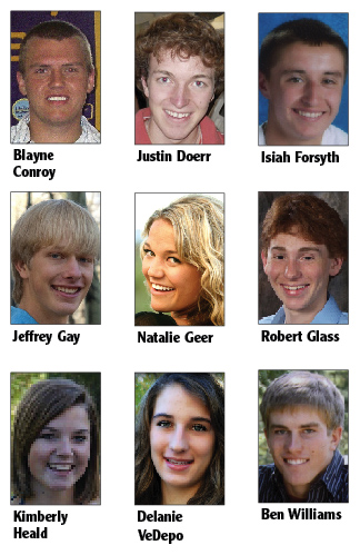 The Optimist Club of Steamboat Springs will award a $1,500 college scholarship to one of these nine Routt County teens at a meeting Thursday night.