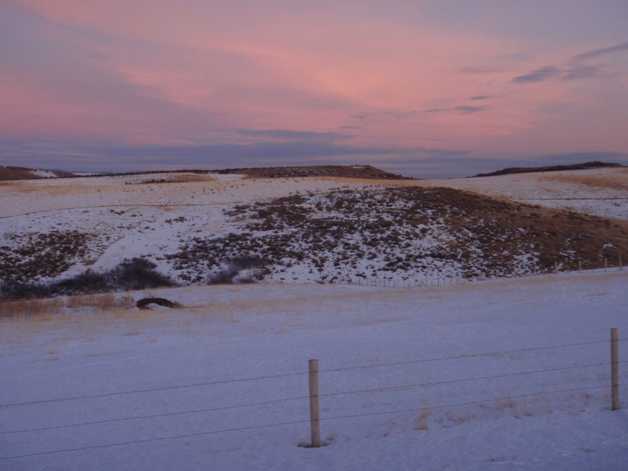 Taken on the cog in Hayden at evening on Jan. 1. Submitted by: Marie-Beth Cheezem