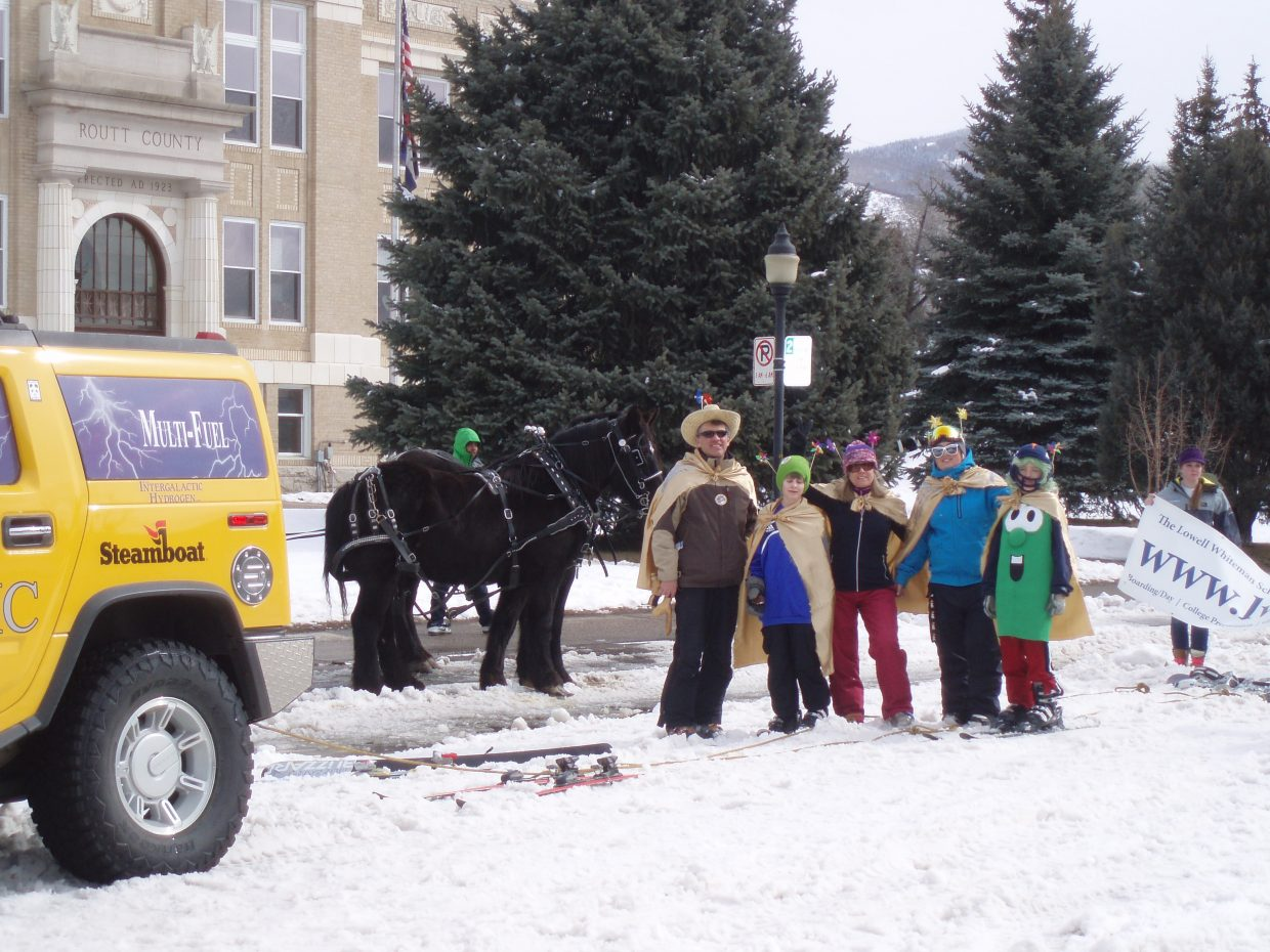 Diamond Hitch team during the Winter Carnival on Sunday. Submitted by: Fred Robinson