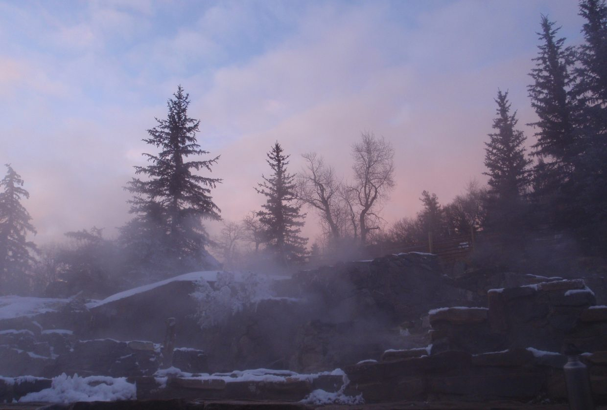 Strawberry Park Hot Springs on Jan. 12. Submitted by: Marie-Beth Cheezem