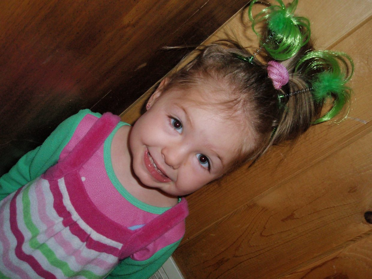 Go green. Happy St. Paddy's Day! Greta Martin, age 4. Submitted by: Candice May Martin