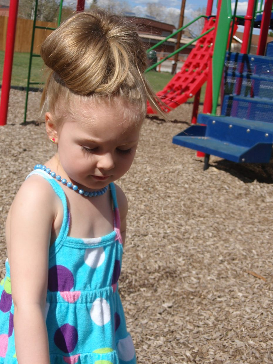 Spring day in Hayden — Greta Martin, age 4. Submitted by: Candice May Martin