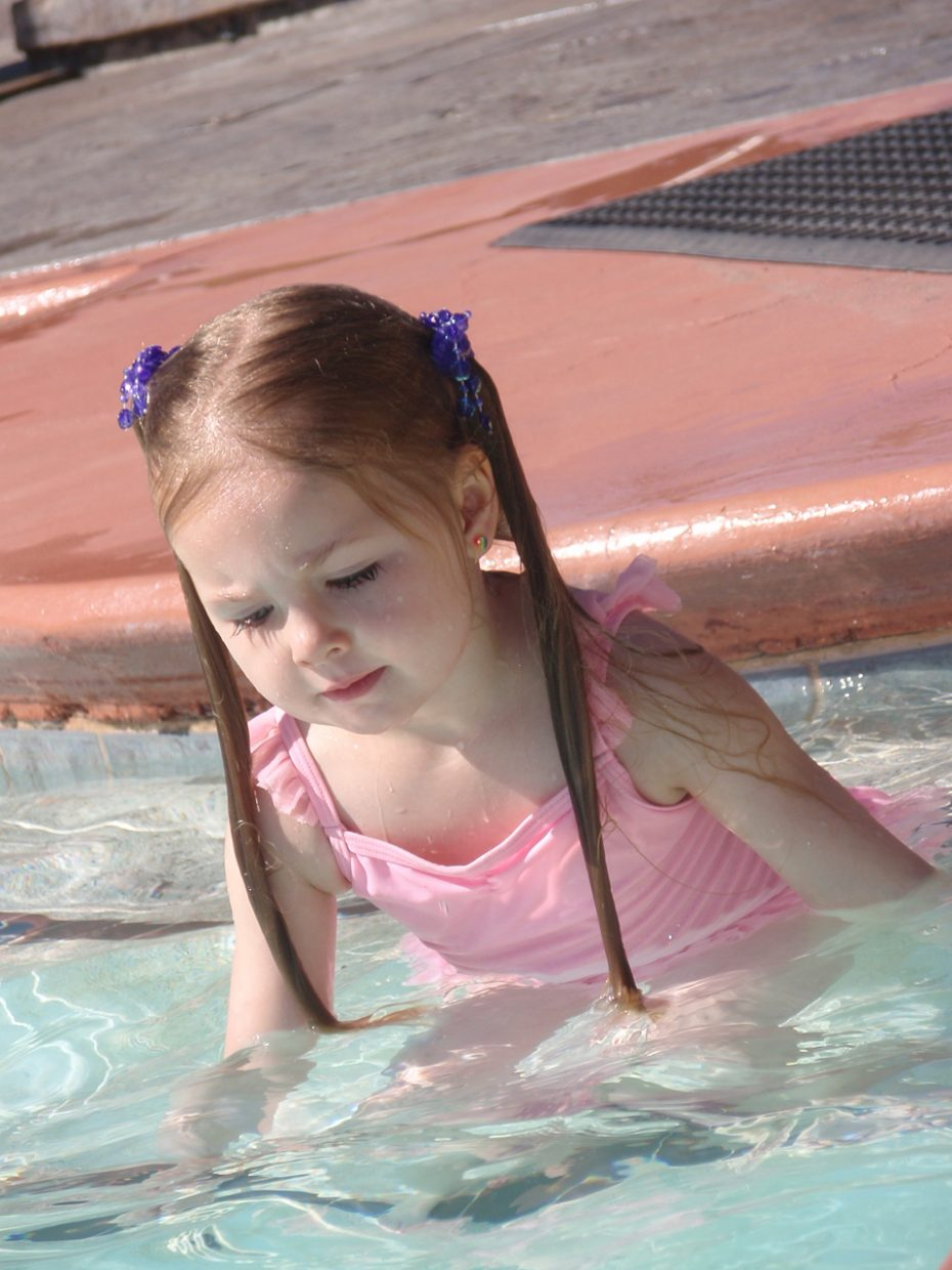 Fun at Old Town Hot Springs — Greta Martin, age 4. Submitted by: Candice May Martin