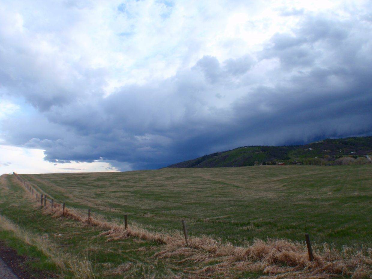 River Road before the clouds dampened the valley on May 2. Submitted by: Marie-Beth Cheezem