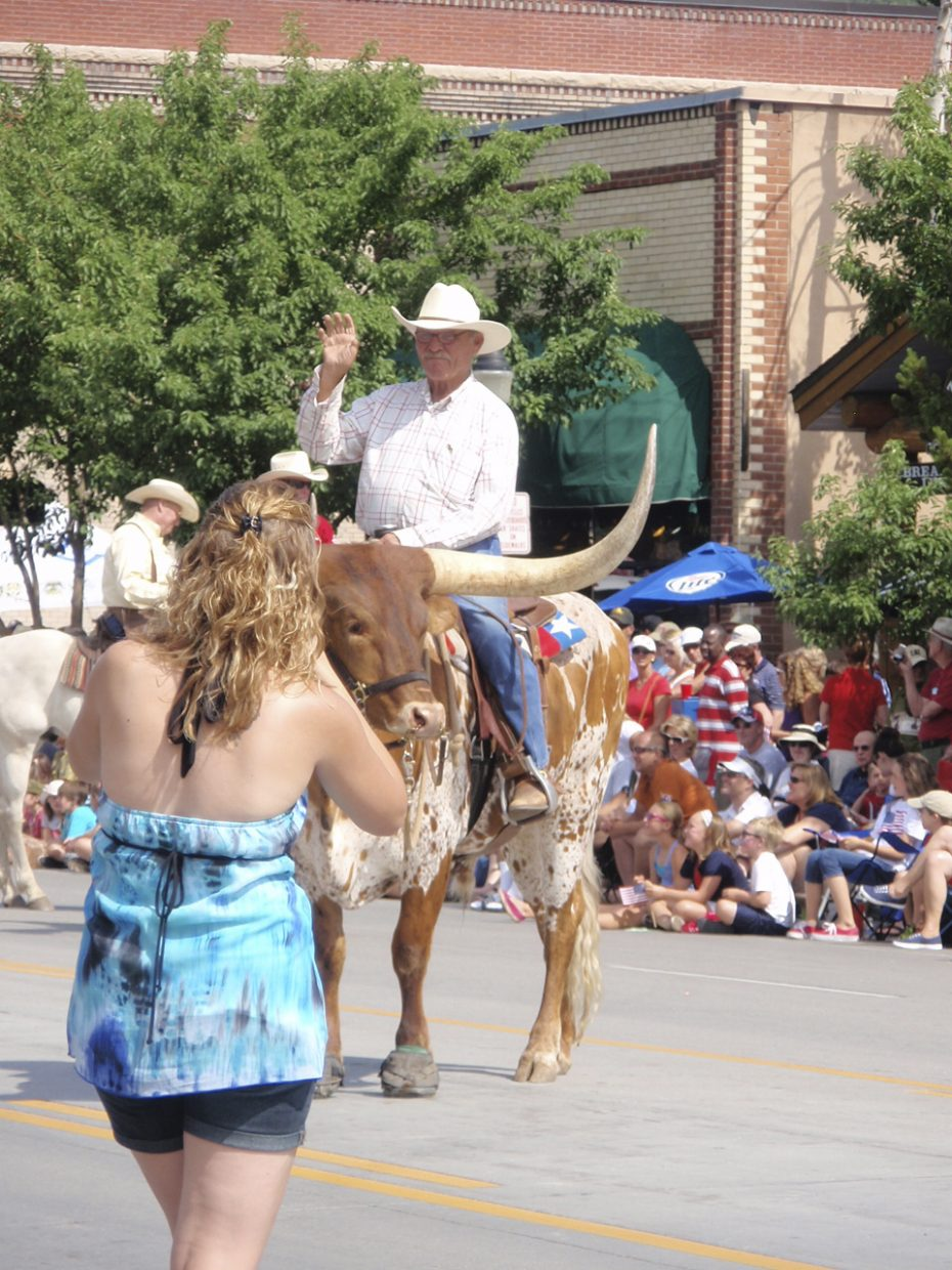 Parade time in Steamboat Springs. Submitted by: Candice Martin