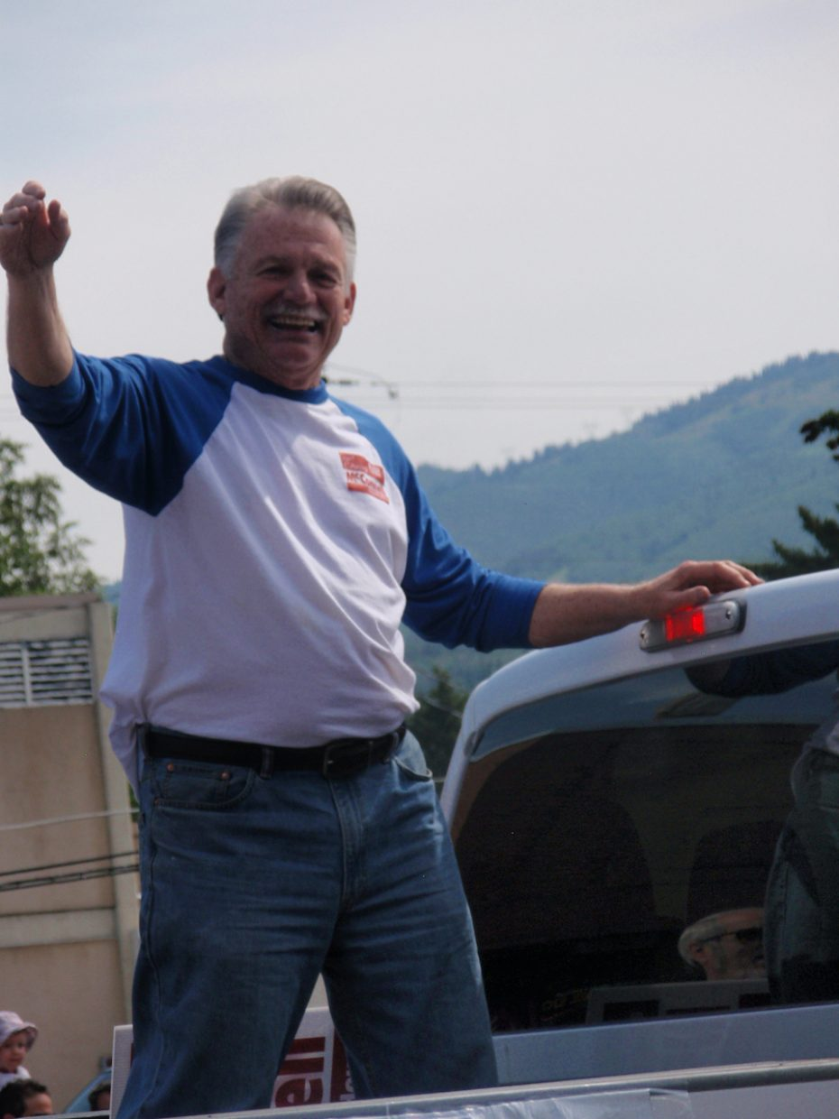 Chuck McConnell at the Fourth of July parade. Submitted by: Candice May Martin
