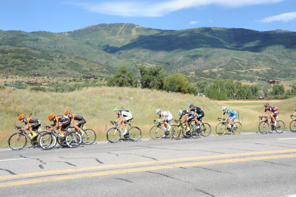 The peloton leaders chasing down Jens Voigt. Submitted by: Lee McShane Cox