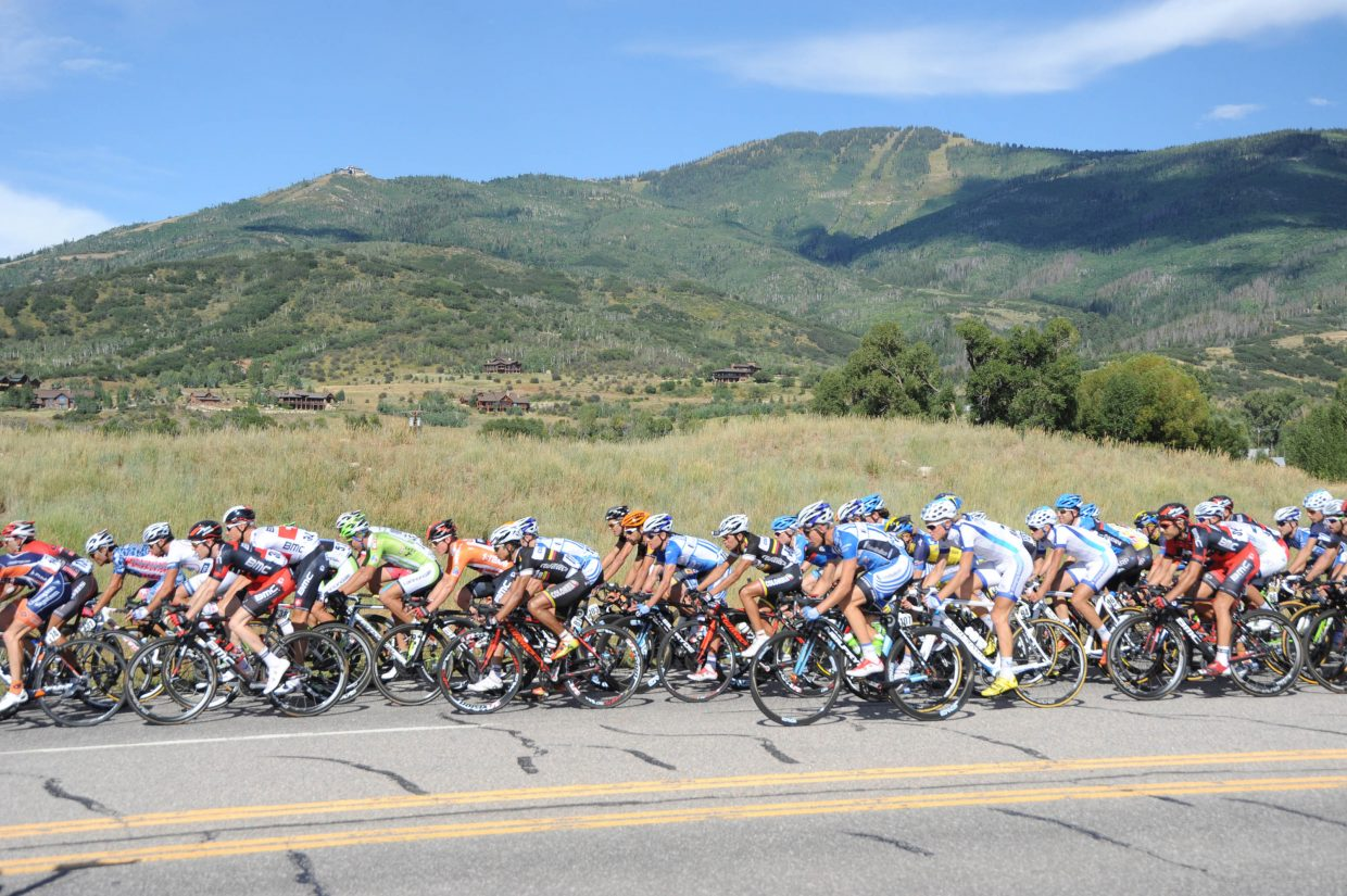 The thickest part of the peloton. Submitted by: Lee McShane Cox