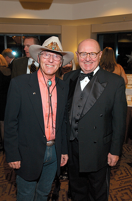 Billy Kidd, left, and Paul Berge, at the 2006 Ski Ball at the Steamboat Grand Resort Hotel.