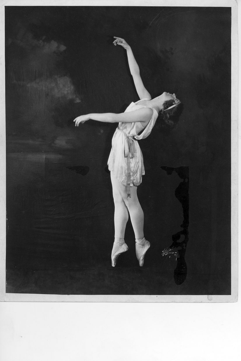 A dancer performs at Perry-Mansfield soon after it started, in the 1920s.