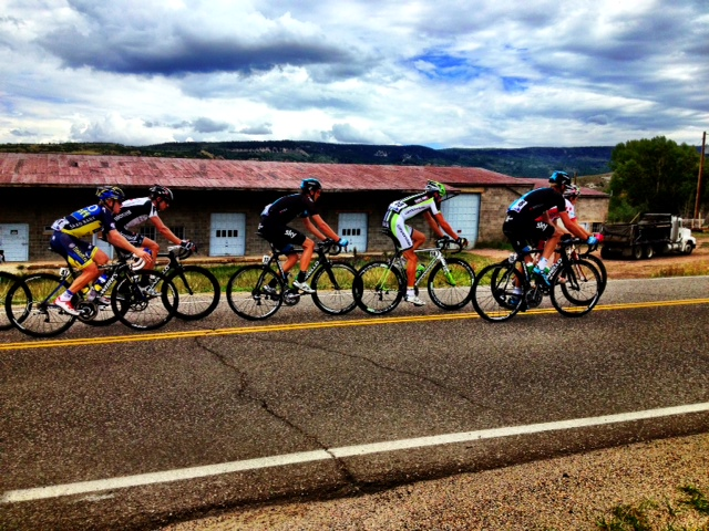 Top cyclists pass Kum & Go in Yampa along Stage 4 of the USA Pro Challenge. Submitted by Verleen Tucker