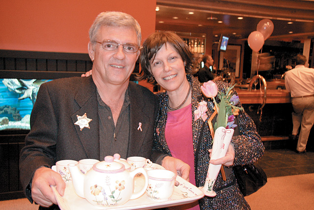 Bill Hamil, owner of Steamboat Meat & Seafood Co., and his wife, Lauren Hamil, attended the Oct. 27 fundraiser.