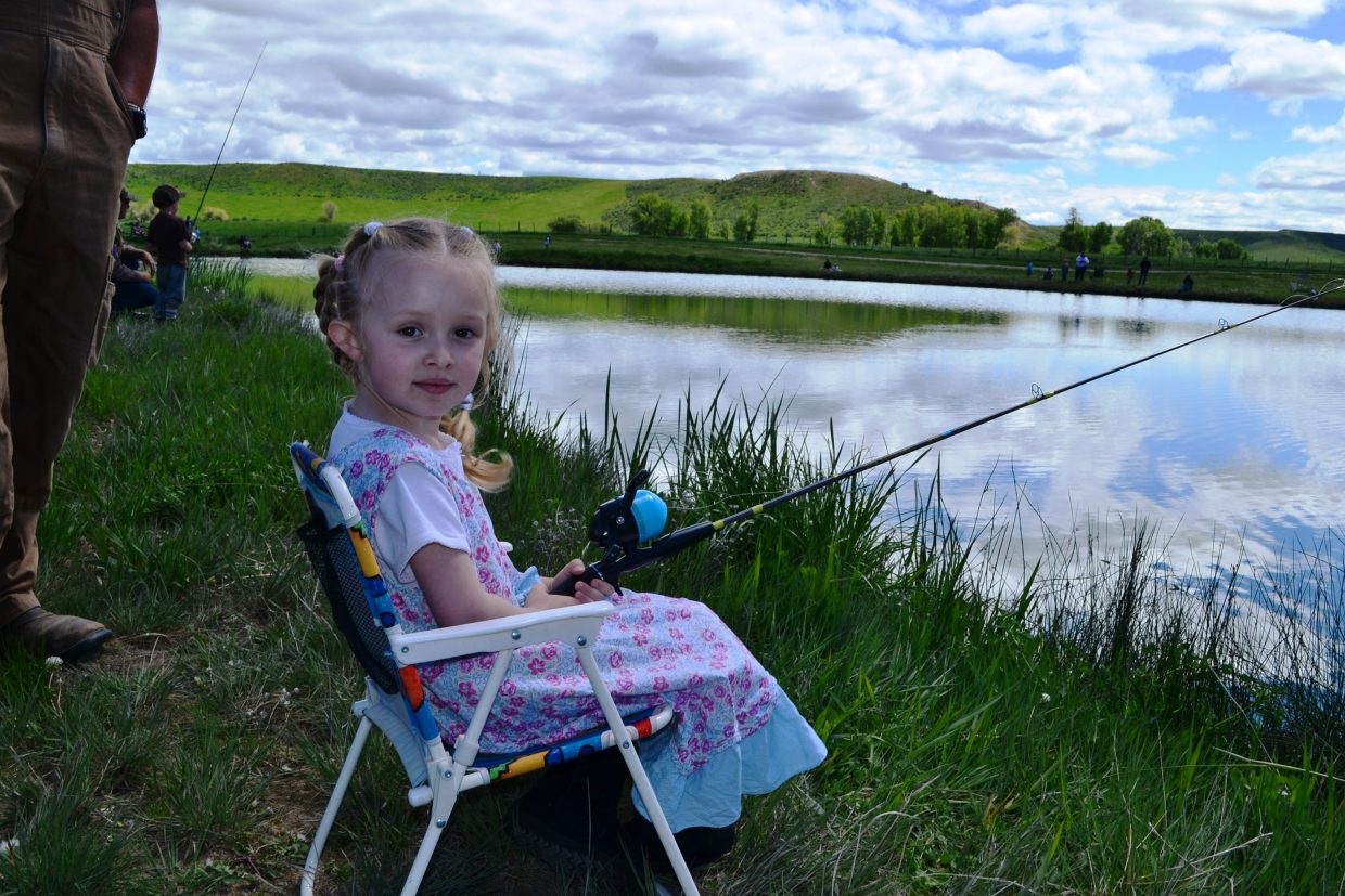 Grace Velasquez fishing during Huck Finn Days in Hayden. Submitted by: Angie Robinson