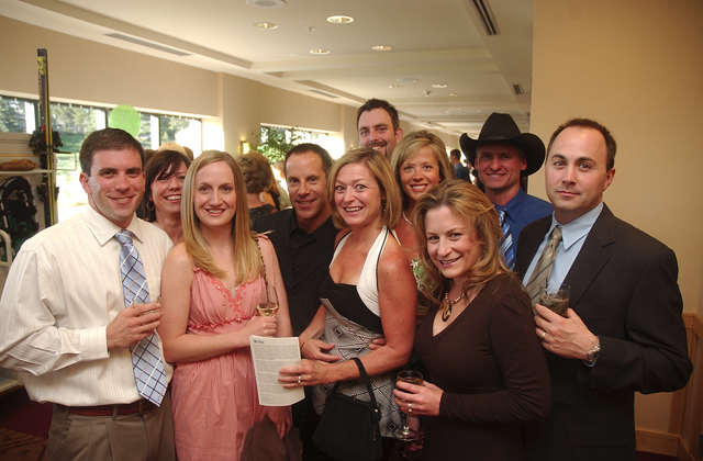 At Home, Steamboat Pilot & Today and Steamboat tv18 staff members take a break at the Carpenter's Ball.
