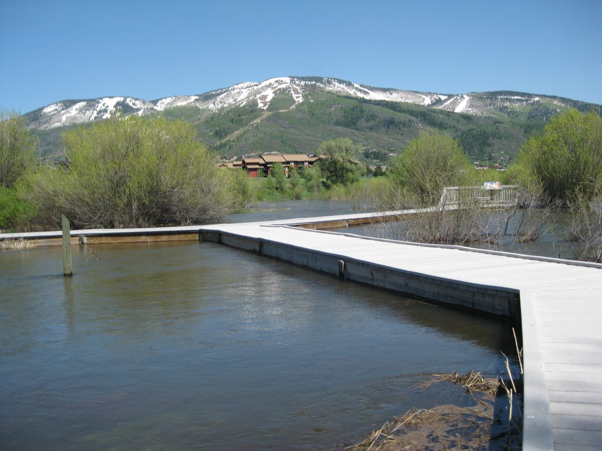 The Yampa River at Rotary Park.