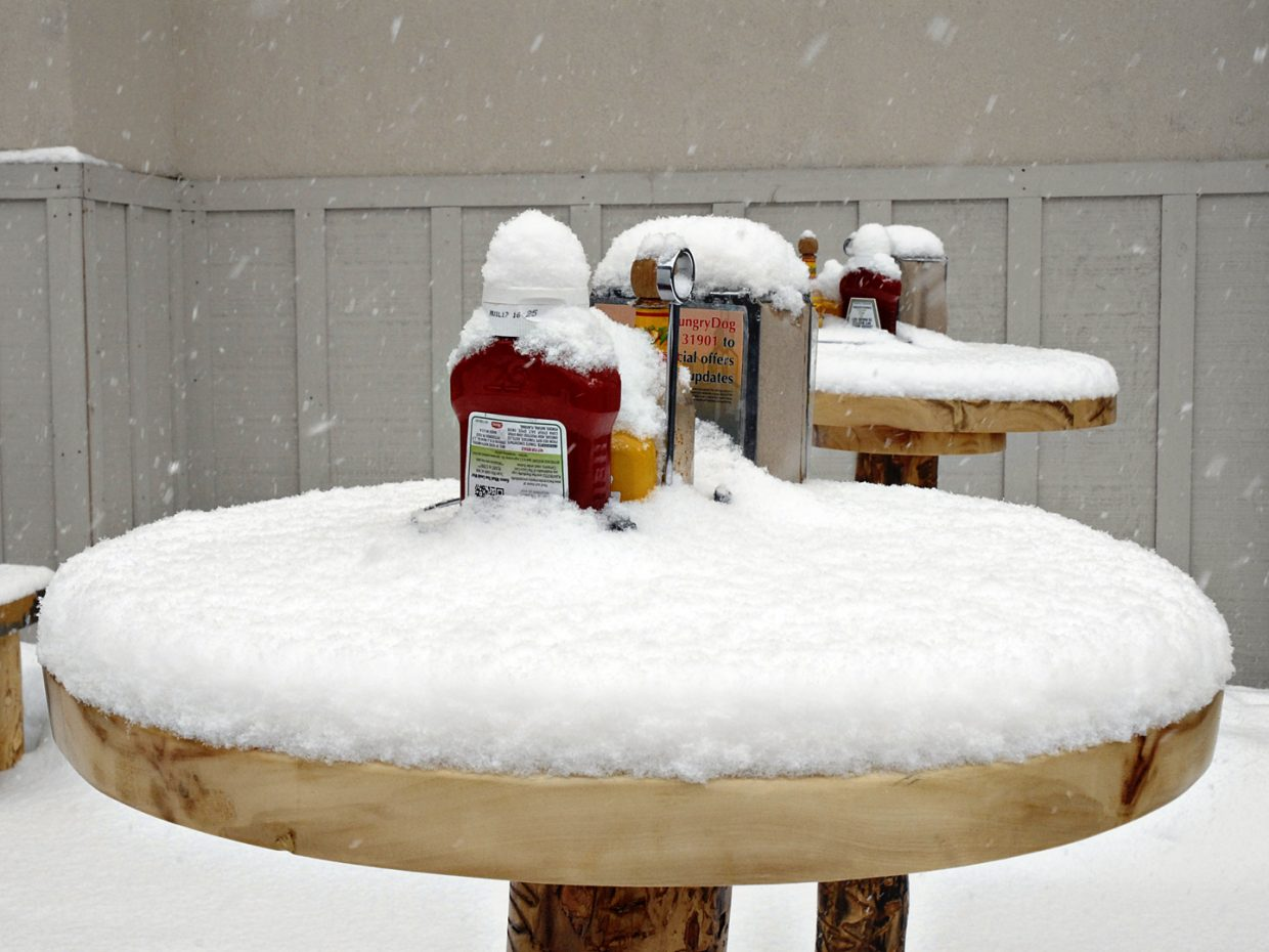 Table setting, Steamboat style. Photo submitted by Jeff Hall