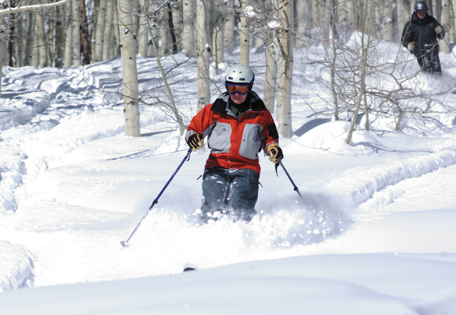 Bob Gibson takes in some Yampa Valley powder during a backcountry trip last winter with Steamboat Powdercats.