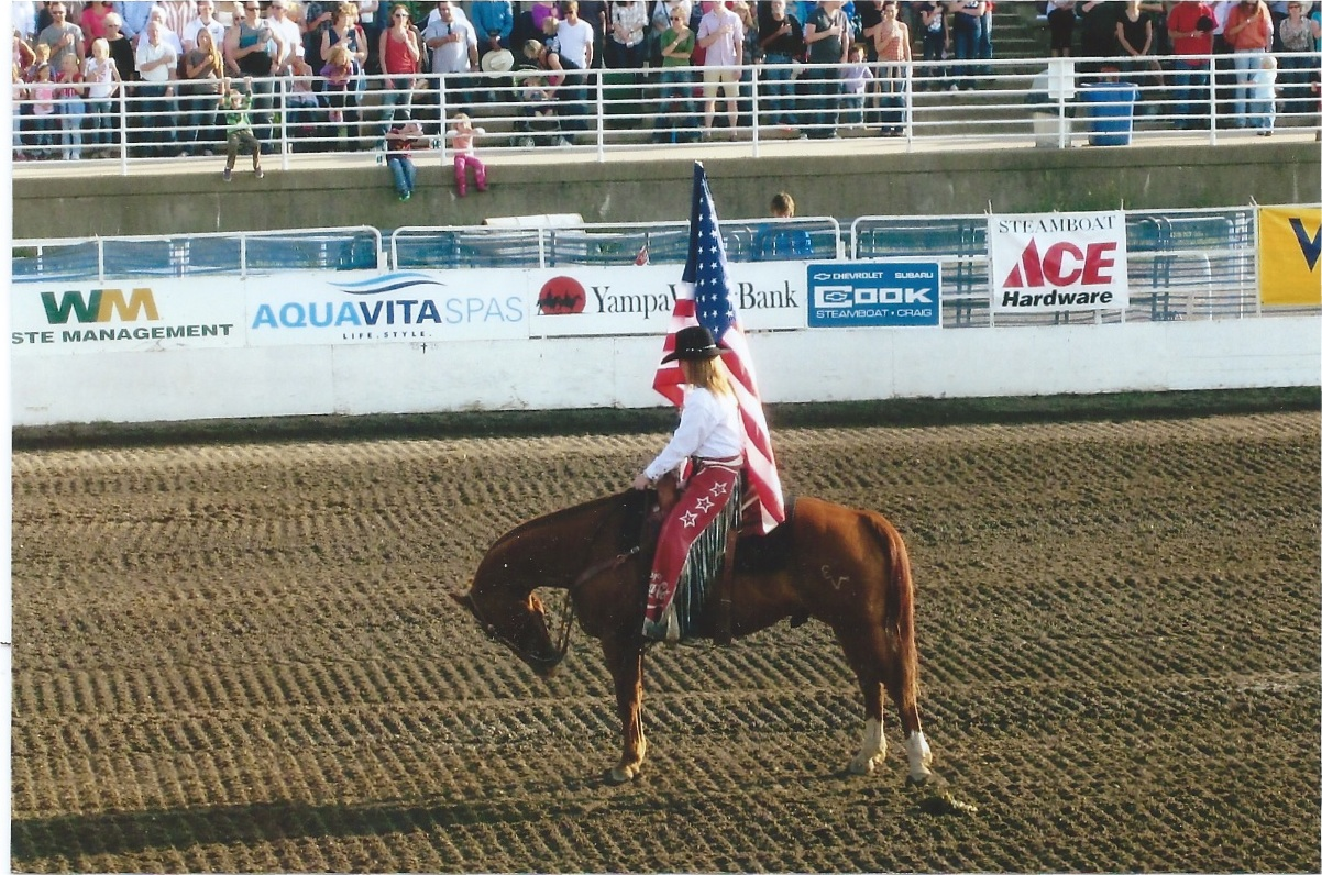 Mimi Weil, of San Mato, Calif., at the rodeo. Submitted by: Jane Romberg