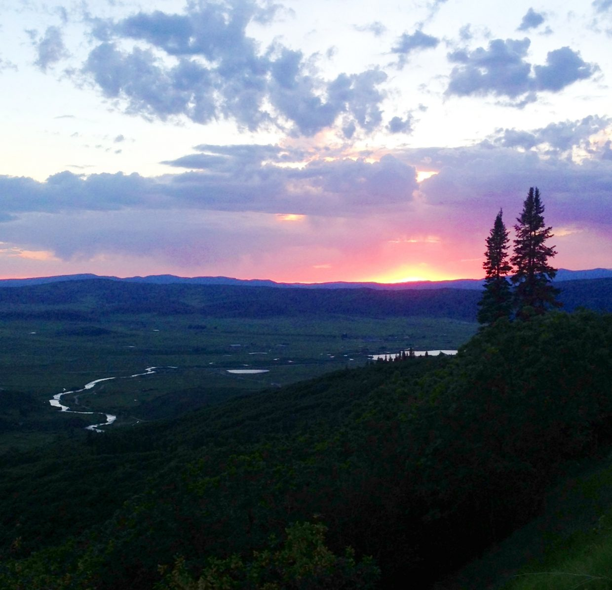 Peeking in to the Yampa Valley from Rabbit Ears Pass while driving out of Steamboat on Sunday. Submitted by: Dylan Roberts
