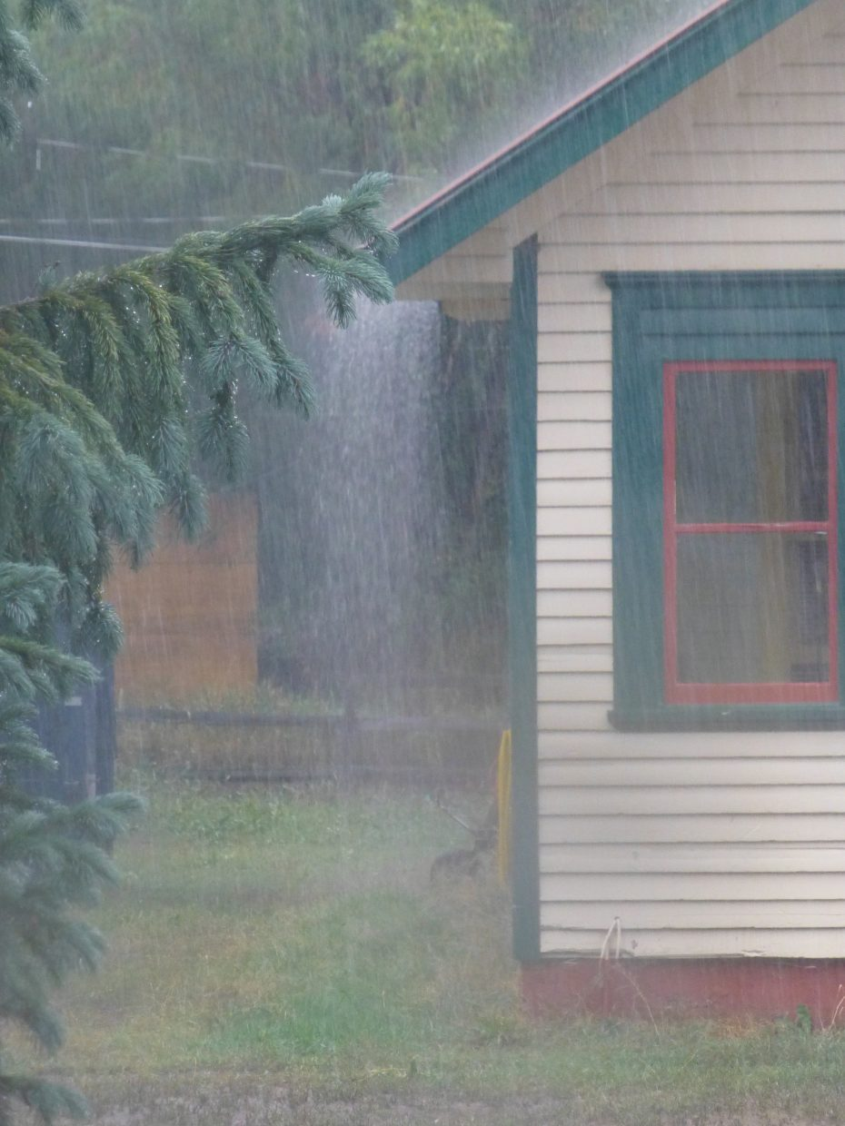 Wednesday's rain in downtown Steamboat. Submitted by: Gail Hanley