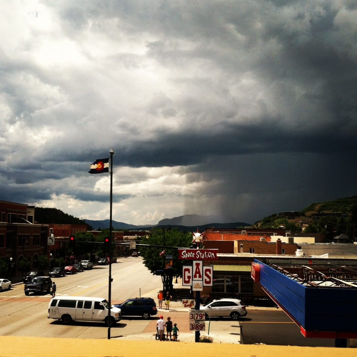 Sunday's rain storm in Steamboat. Submitted by: Lexi Komac