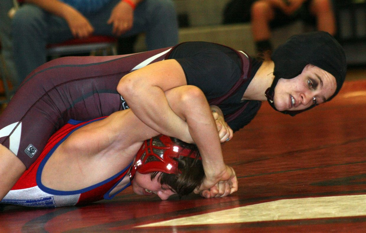 Lauryn Bruggink vs. a Norwood wrestler at the 2A Regionals wrestling tournament. Submitted by: Coty Dilldine