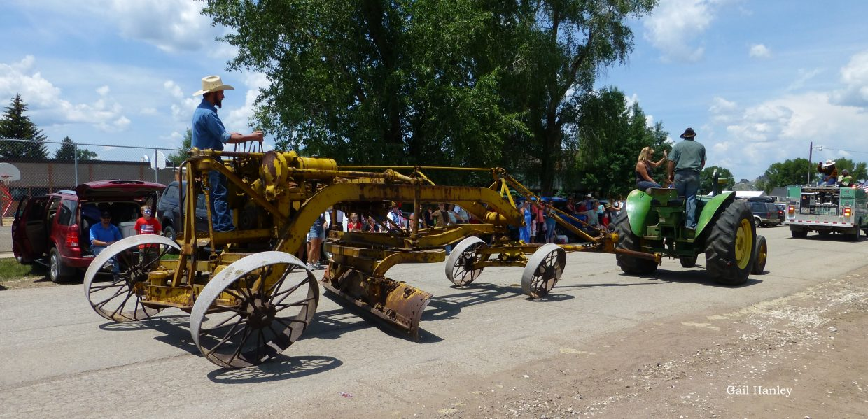 A road grader at the Yampa Fourth of July Parade. Submitted by: Gail Hanley.
