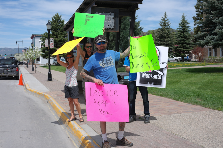 March against Monsanto in Steamboat Springs. Submitted by: Paula Jaconetta