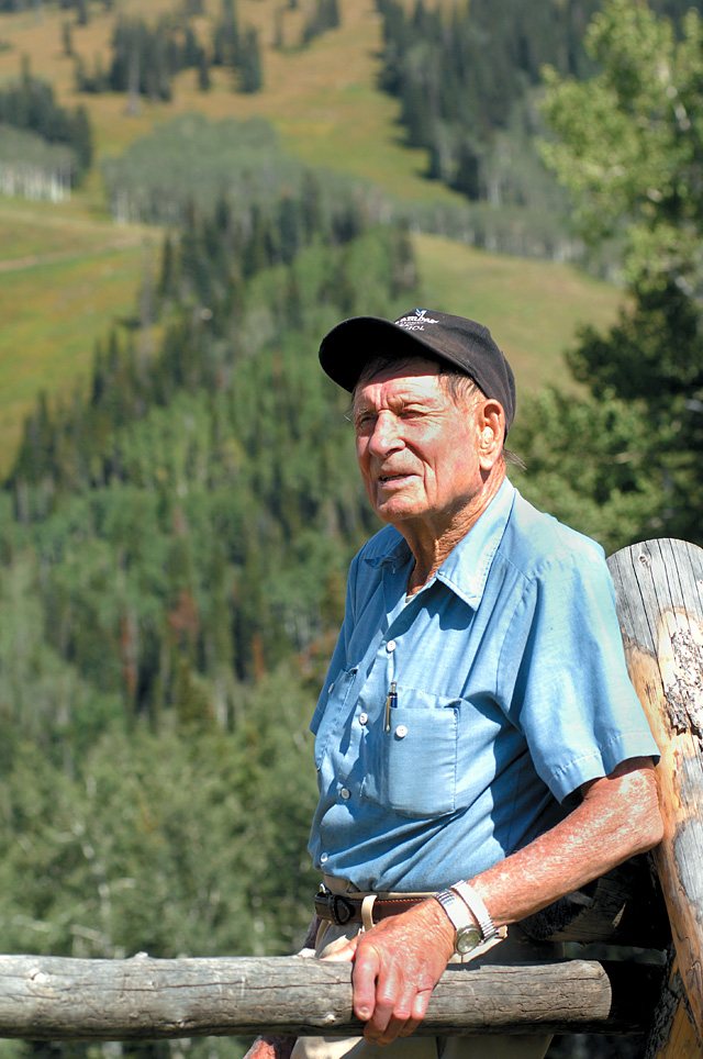 Steamboat Springs' John Fetcher stands at the top of Mount Werner earlier this summer. Fetcher played a key role in the early days of the Steamboat Ski Area and moving Steamboat into the modern era.
