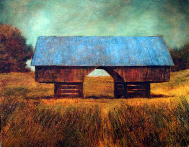 """""""Hay Barn,"""" painting by Donald Berry who is being represented by Studio Gallery 27. The opening reception is Saturday from 6 to 8 p.m. at Studio Gallery 27 in Ski Time Square."""