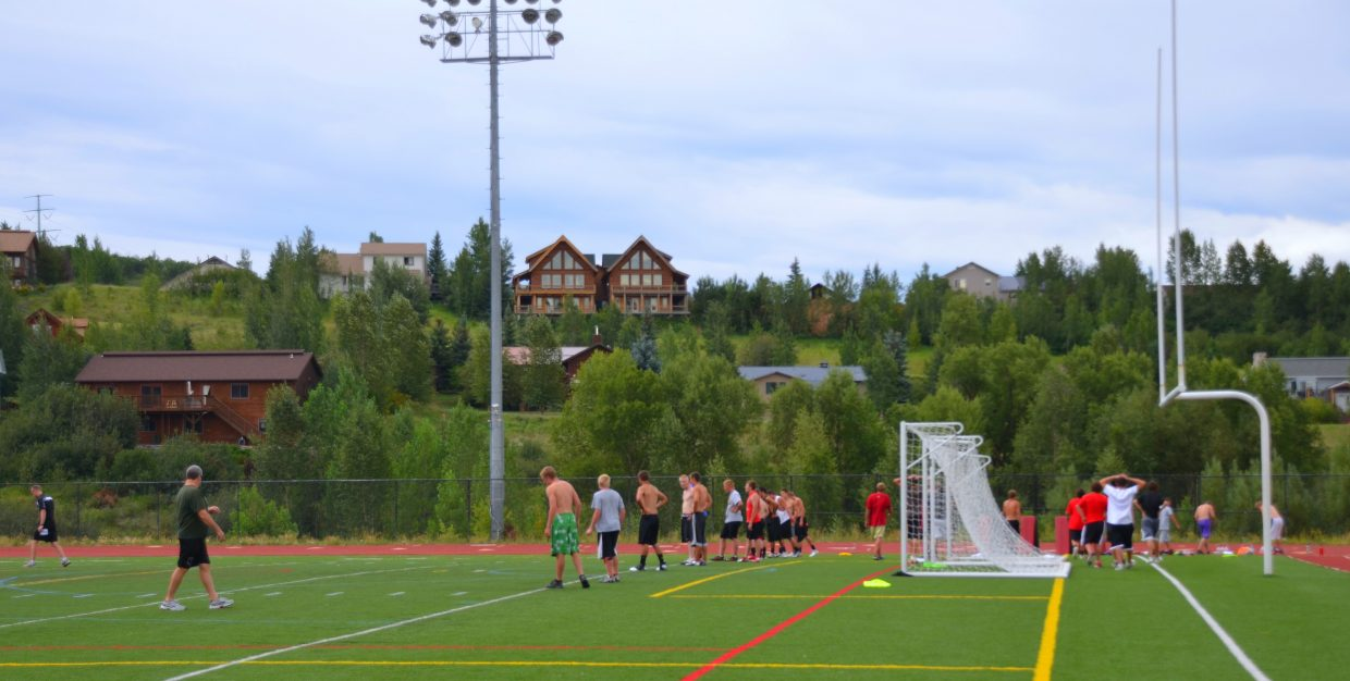 Football practice has started at Steamboat Springs High School. Submitted by: Shannon Lukens