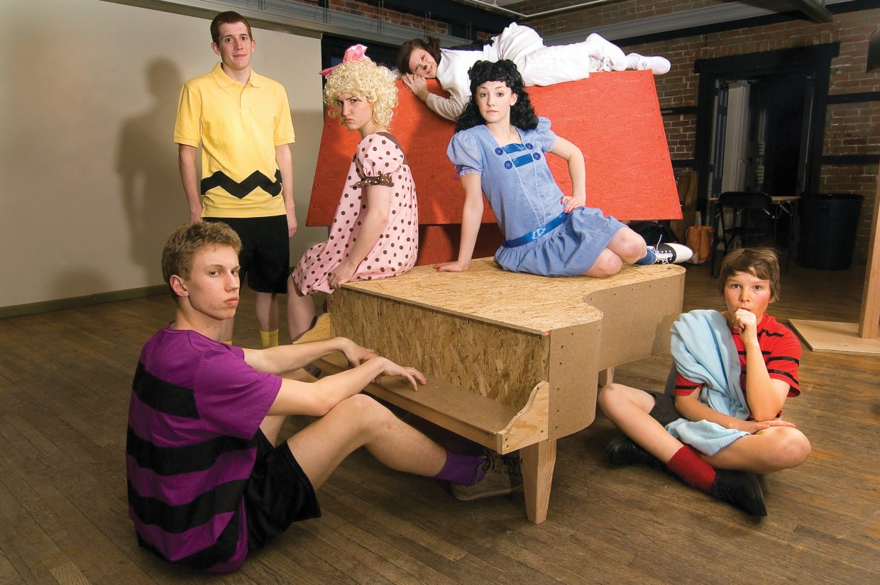 """The cast of """"You're a Good Man, Charlie Brown"""" includes Cody Poiriot (Schroeder), Sean Hill (Charlie), Simonne Hill (Sally), Gracie Stockdale (Snoopy), Matthia Duryea (Lucy) and Jake Barker (Linus)."""