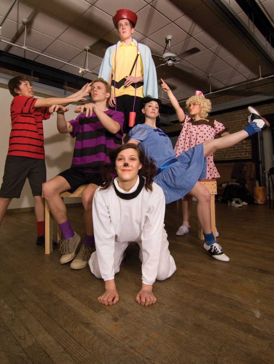 The cast of You're a Good Man, Charlie Brown includes Cody Poiriot (Schroeder), Sean Hill (Charlie), Simonne Hill (Sally), Gracie Stockdale (Snoopy), Matthia Duryea (Lucy) and Jake Barker (Linus).