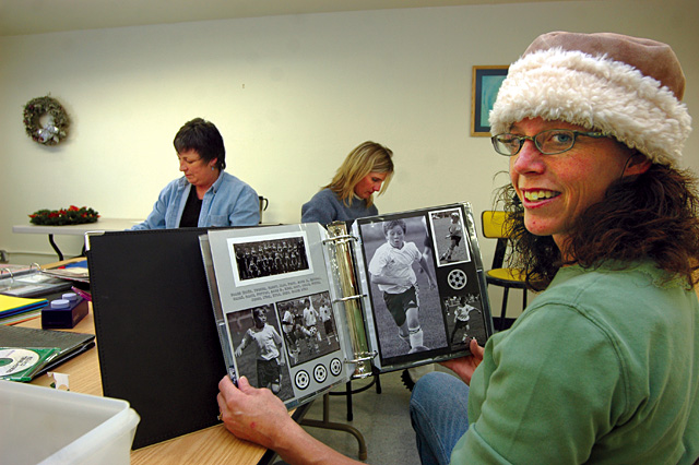 Darcy Trask teaches four scrapbooking classes at the Steamboat Arts and Crafts Gym. She helps students organize their memories into books that archive people's personal history.