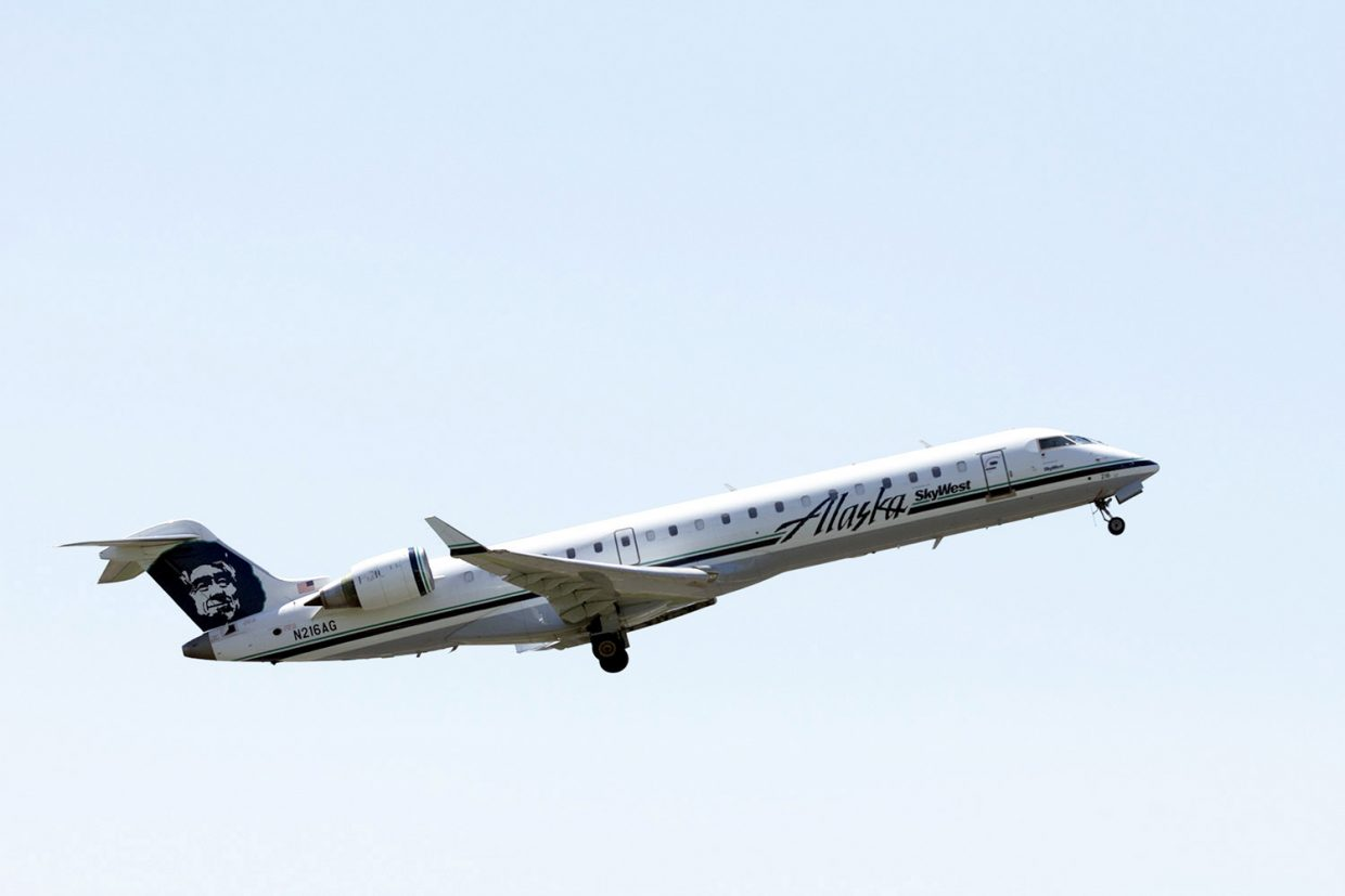 Alaska Airlines will begin serving Yampa Valley Regional Airport from Seattle twice weekly during ski season starting Dec. 18 with a 70-passenger CRJ7 jet.