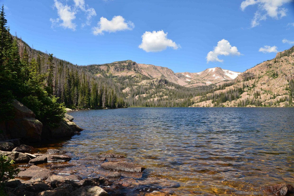Rainbow Lake and waterfall on a beautiful July day. Submitted by: Thomas Pannke