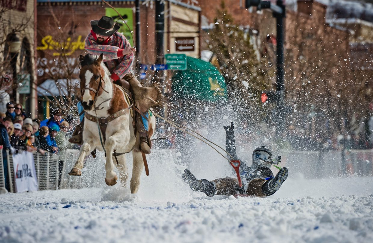 Shovel race at the 99th annual Winter Carnival street events. Submitted by: Susannah Blundell