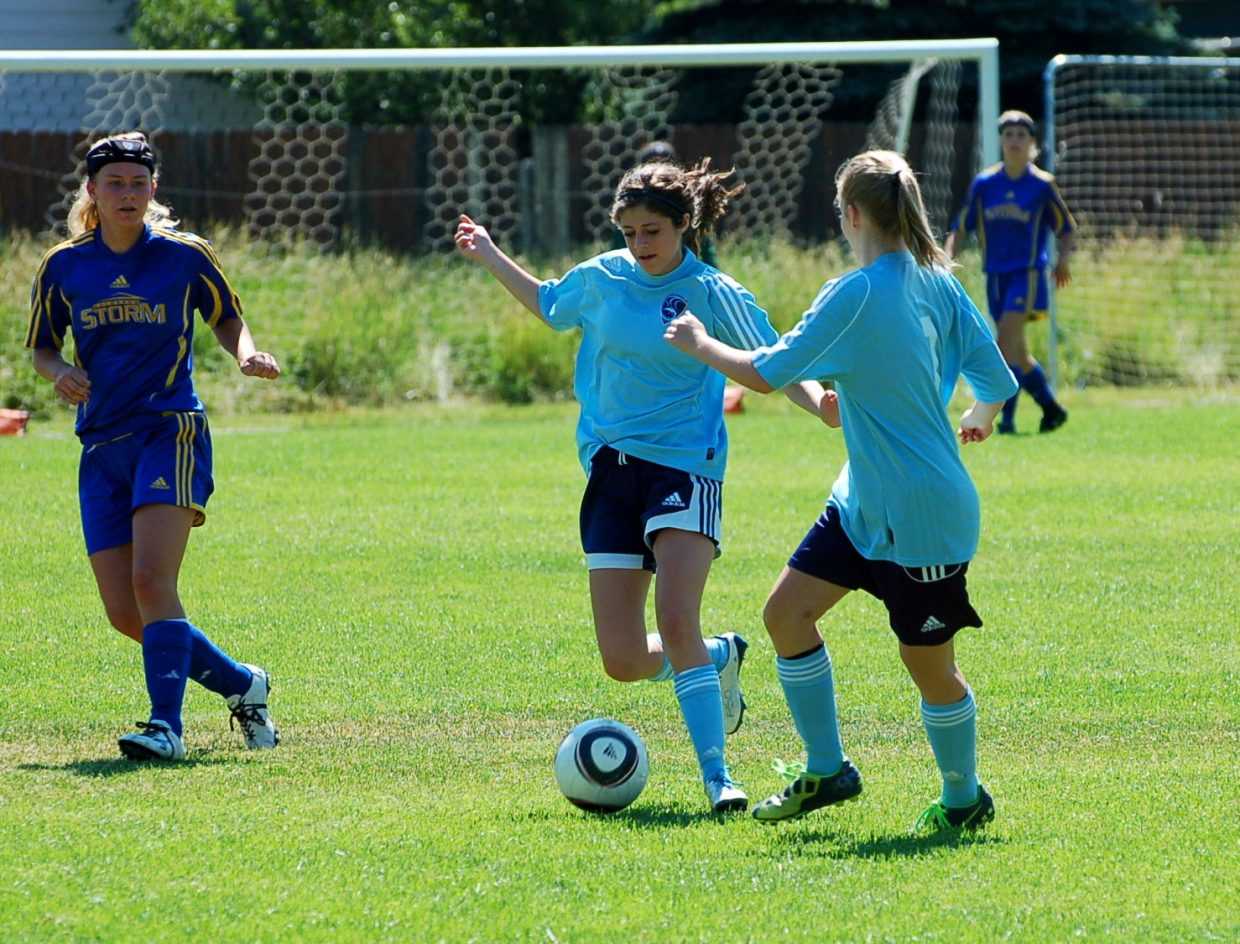 U18 girls at this weekend's soccer tournament. Submitted by: Shannon Lukens